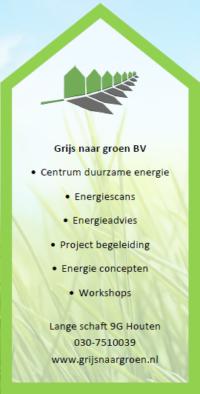 Grijs naar Groen BV Centrum duurzame energie Duurzaam Duurzaamheid Samenwerking met Installatietechniek Rijnhuis